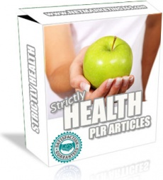 Ebook cover: The Strictly Health PLR Articles