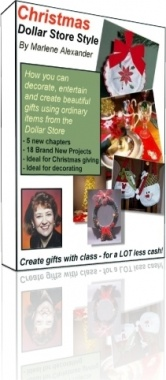 Ebook cover: Christmas - Dollar Store Style