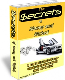 Ebook cover: The Secrets of Money and Riches