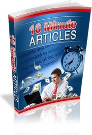 Ebook cover: 10 Minute Articles