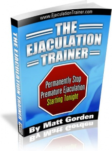 Ebook cover: The Ejaculation Trainer
