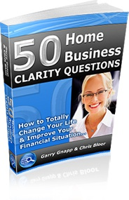 Ebook cover: The 50 Home Business Clarity Questions
