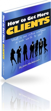 Ebook cover: How to Get More CLIENTS