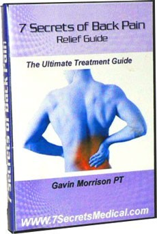 Ebook cover: Seven Secrets of Back Pain Relief