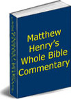 Ebook cover: Matthew Henry's Concise Commentary on the Bible