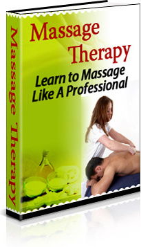 Ebook cover: Massage Therapy:  Learn to Give a Massage Like a Pro