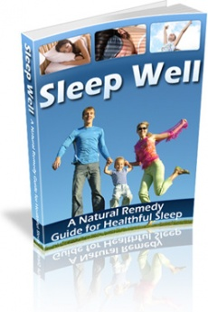Ebook cover: Sleep Well: A Natural Remedy Guide for Healthful Sleep