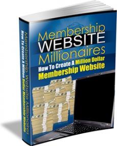 Ebook cover: Membership Website Millionaires