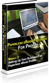 Ebook cover: Paperless eBook Publishing For Profits