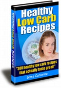 Ebook cover: Healthy Low Carb Recipes