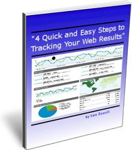 Ebook cover: 4 Quick and Easy Steps to Tracking Your Web Results