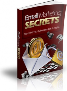 Ebook cover: Email Marketing Secrets