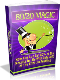 Ebook cover: 80 vs 20 Magic