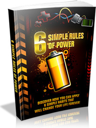 Ebook cover: 6 Simple Rules Of Power