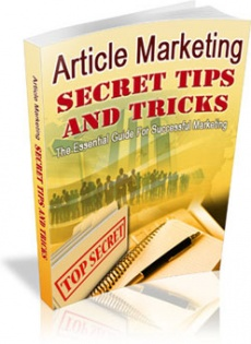Ebook cover: Article Marketing Secret Tips and Tricks