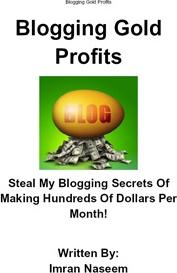 Ebook cover: Blogging Gold Profits