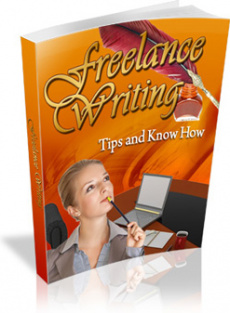 Ebook cover: Freelance Writing Tips and Knowhow