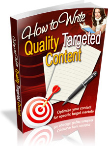 Ebook cover: How to Write Quality Targeted Content