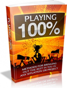 Ebook cover: Playing 100%