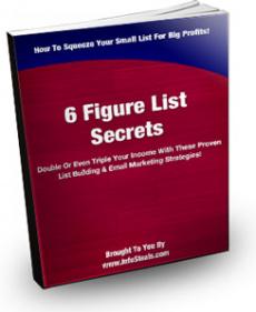 Ebook cover: 6 Figure List Secrets