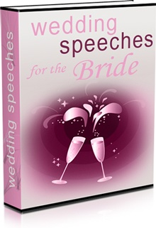 Ebook cover: Wedding Speeches for the Bride