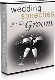 Ebook cover: Wedding Speeches for the Groom