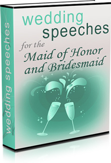 Ebook cover: Wedding Speeches for the Maid of honor and Bridesmaids