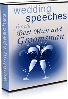 Ebook cover: Wedding Speeches for the Best Man and Groomsman
