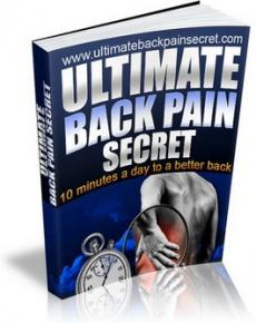 Ebook cover: Ultimate Back Pain Secret