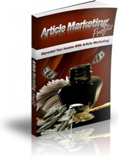 Ebook cover: Article Marketing Profits