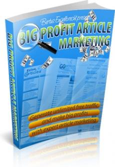 Ebook cover: Big Profit Article Marketing