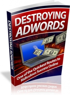 Ebook cover: Destroying Adwords