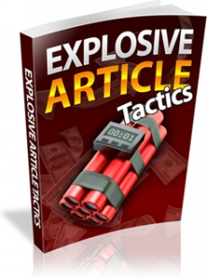 Ebook cover: Explosive Article Tactics