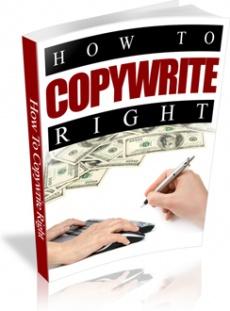 Ebook cover: How to Copywrite Right