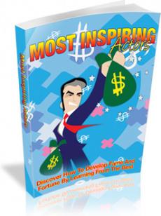 Ebook cover: Most Inspiring Actors
