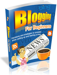 Ebook cover: Blogging for Beginners