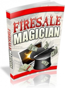 Ebook cover: Firesale Magician