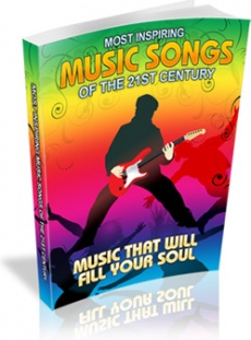 Ebook cover: Most Inspiring Music Songs Of The 21st Century