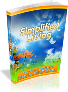 Ebook cover: Simplified Living
