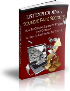 Ebook cover: List Exploding Squeeze Page Secrets