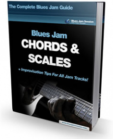 Ebook cover: Blues Jam Chords & Scales