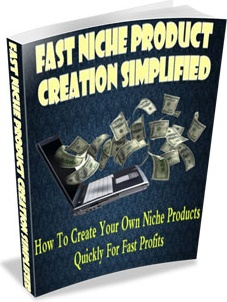 Ebook cover: Fast Niche Product Creation Simplified
