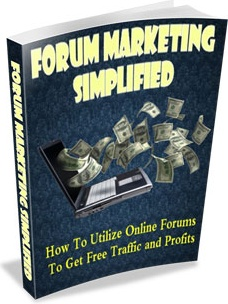Ebook cover: Forum Marketing Simplified