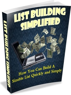 Ebook cover: List Building Simplified