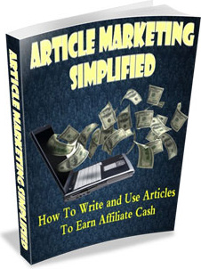 Ebook cover: Article Marketing Simplified