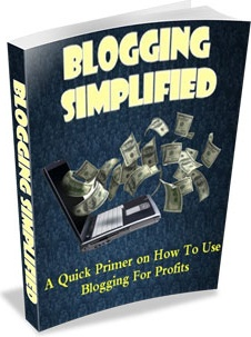 Ebook cover: Blogging Simplified