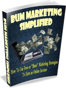 Ebook cover: Bum Marketing Simplified