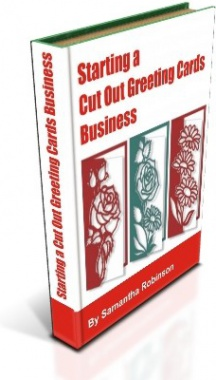 Ebook cover: Starting a Cut Out Greeting Cards Business