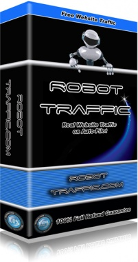 Ebook cover: Robot Traffic - Real Website Traffic on Auto-Pilot