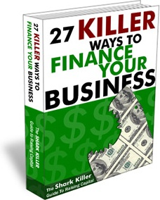 Ebook cover: 27 Killer Ways to Finance Your Business